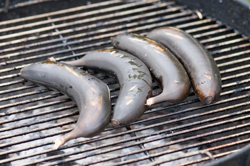 bananas cooked on the barbecue