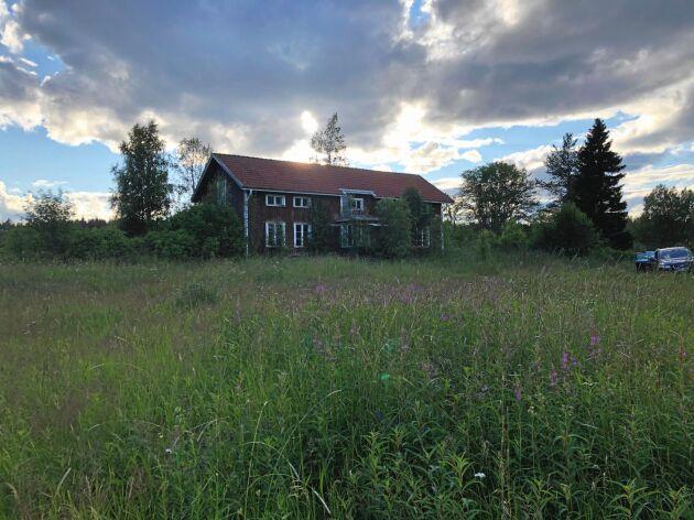 Ödehuset som ska bli ett drömhus, inte långt norr om Husum i norra delen av Höga kusten och Ångermanland.