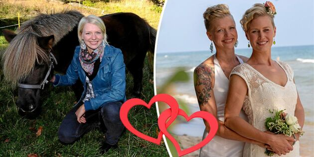 Bonde-Thilde gift med nya kärleken –firade hemma på gården