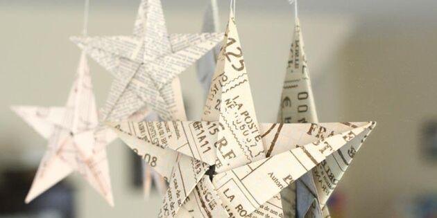 Så gör du en vacker origamistjärna