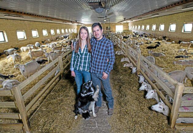 Emma Jönsson och Maycon Vinborg har lämnat gården i Hörby för Maycons hemland Brasilien.