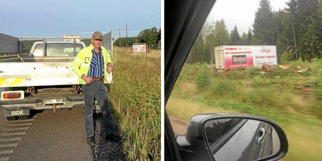 Lastbilsföraren Per Anders: Rensa bort alla fula reklamskyltar från vägarna!