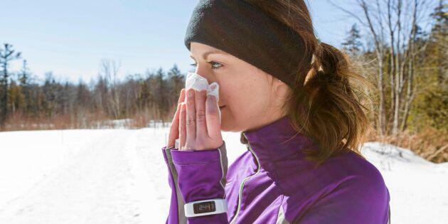 Kan man träna när man är förkyld? Detta gäller!