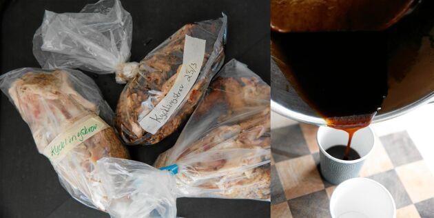 Egen kycklingfond får en fantastiskt fin och intensiv smak.