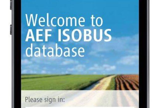 AEF Isobusdatabas finns som mobilapp.