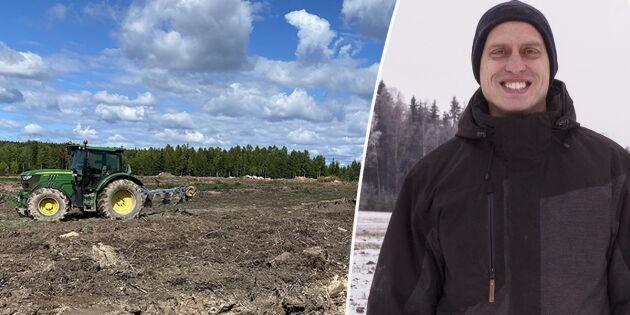 Här förvandlas skogen till åkermark