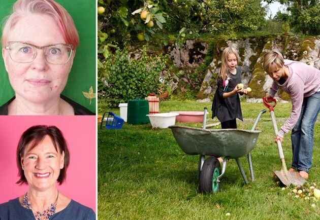 Landsbygdsbor har ofta extra svårt att få ihop vardagen på grund av långa avstånd och brist på service. Ingrid Mårtensson (överst) och Anneli Nordström (underst) från feministiskt initiativ.