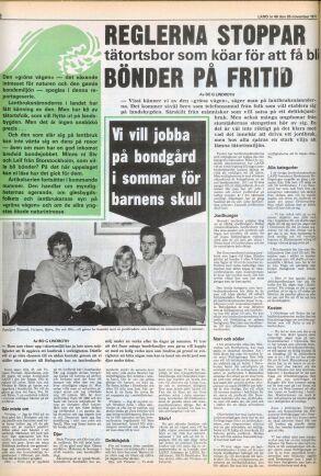 Familjen Thorsell fick sin drömsemester med hjälp av reportage i tidningen Land för 49 år sedan.