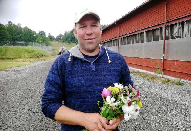 Sörmlandsbonden Holger van der Woude på dagens prisutdelning. Holger van der Woude har fått priset Årets svenska Östersjöbonde av Världsnaturfonden WWF.