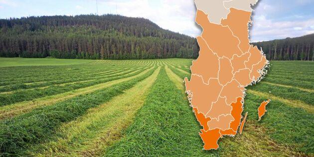 Karta: Så går det med vallskörden i landet