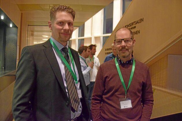 Per Karlander, Hånger, och Jörgen Svensson, Södra Njudung, hade framgångar i vildsvinsdebatten.