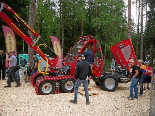 Kranmans skördare 620 S som visas på Skogselmia är den första med dieselmotor.