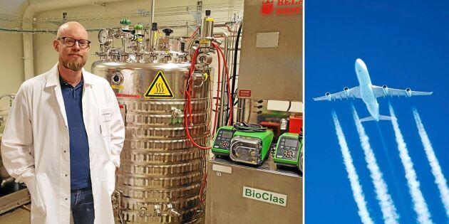 Han ska göra miljövänligt flygbränsle – av sågspån
