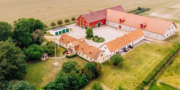 Gård på en av Sveriges bästa åkermarker till salu