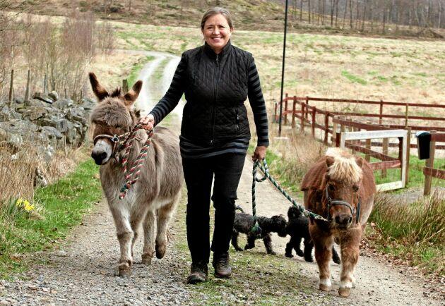 - Det är fantastiskt att se vilken lugnande effekt djuren har, säger Gill Croona som två gånger i veckan öppnar sin gård för personer med psykisk ohälsa.