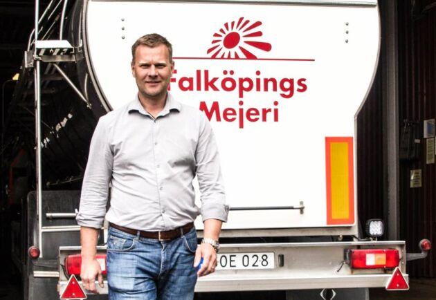 Anders Segerström är sedan april 2016 ny tillförordnad VD för Falköpings Mejeri.