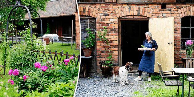 Operastjärnan Maria köpte gård i hembygden – och driver butik, café & trädgård