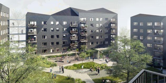 Serietillverkning av hus med KL-trä
