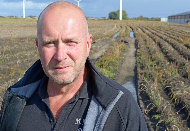 Det kommer att dröja innan fälten hos potatisodlaren Magnus Magnusson torkar upp.
