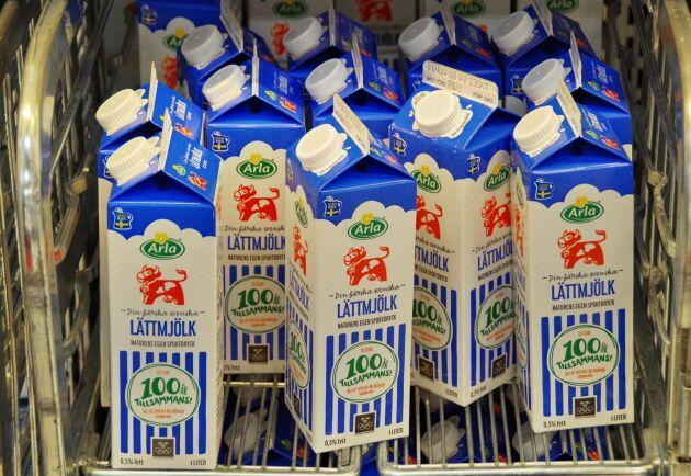Arlas nya a contopris i Sverige för konventionell mjölk baserad på icke-GMO foder är 337,4 öre/kg, och a contopriset för ekomjölk 451,8 öre/kg.