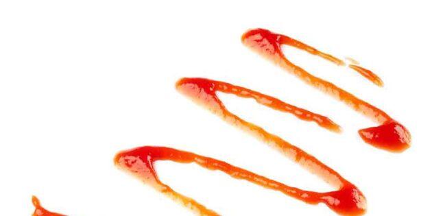 Städa med mat – ketchup putsar silvret