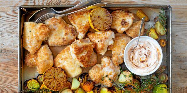 Dagens middagstips: Frasigt ostpanerad kycklingfilé