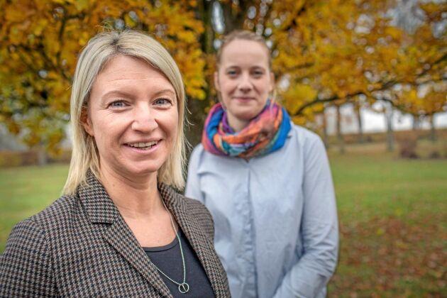 Kursledarna Maria Eriksson och Hanna Cederlund.