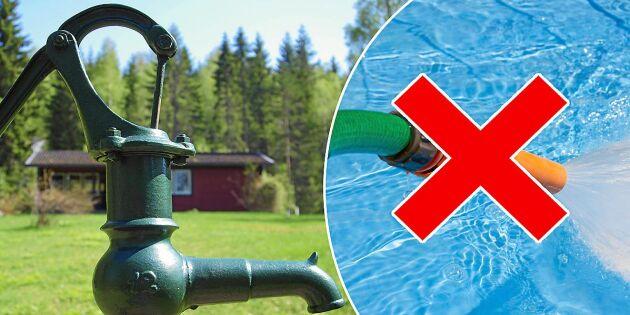 Vattenkris i hela landet – så kan du spara på vattnet