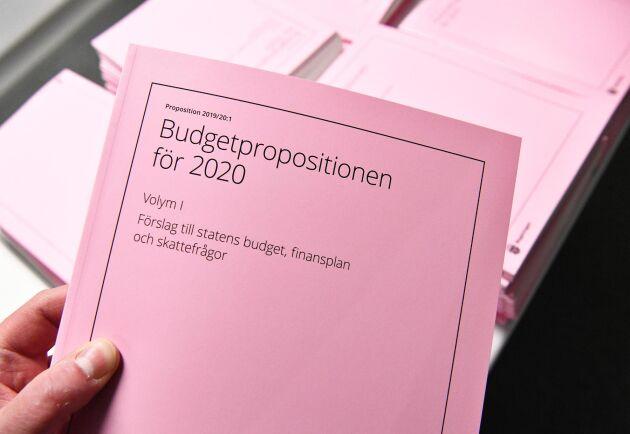 Budgetpropositionen för 2020 lades fram i dag på Finansdepartementet i Stockholm.