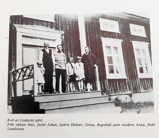 Tidigare ägarinnan Ragnhild som barn med sin familj i början av 1900-talet.