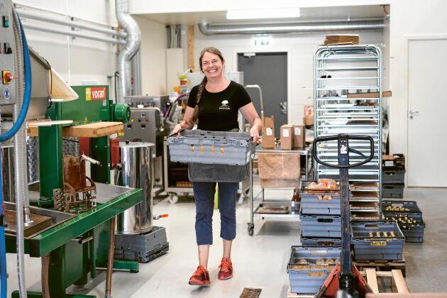 För några år sedan var det så mycket äpplen i polisen Katarina Holmbergs trädgård att hon tog dem till ett musteri. I dag är driver hon Norrtelja musteri i Roslagen.