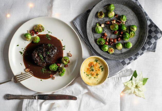 Otroligt mört kött med mustig, smakrik sås. Rödvinsbrässerad högrev är festmat när den är som bäst.