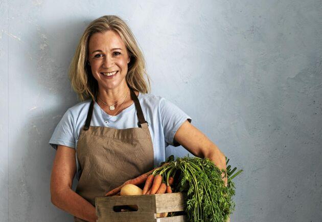 Grönsaksbagare. Lena Wallentinsson har samlat sina gröna bakrecept i den härliga boken Baka med grönsaker.