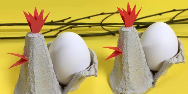 Återbruka äggkartongen! Så gör du sötaste kopparna