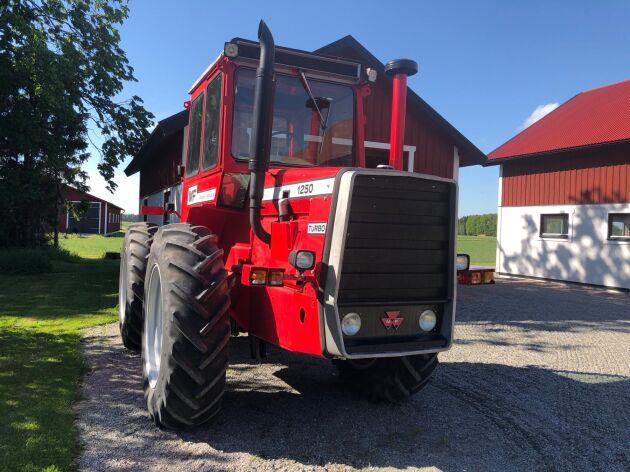 Lite finputsning kan det bli, men målet är i första hand att traktorn ska användas i jordbruket.