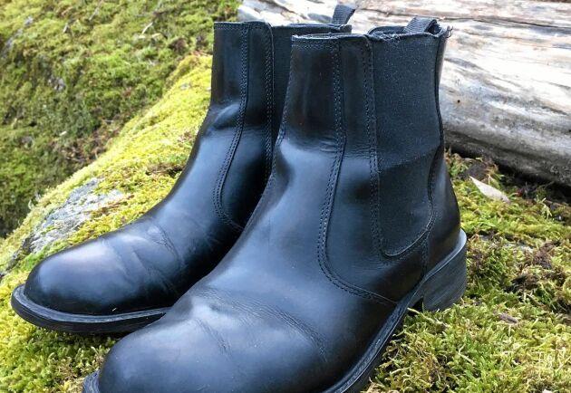Inte som nya läderskor men nära nog. Efter en genomgång håller skorna ett bra tag till.