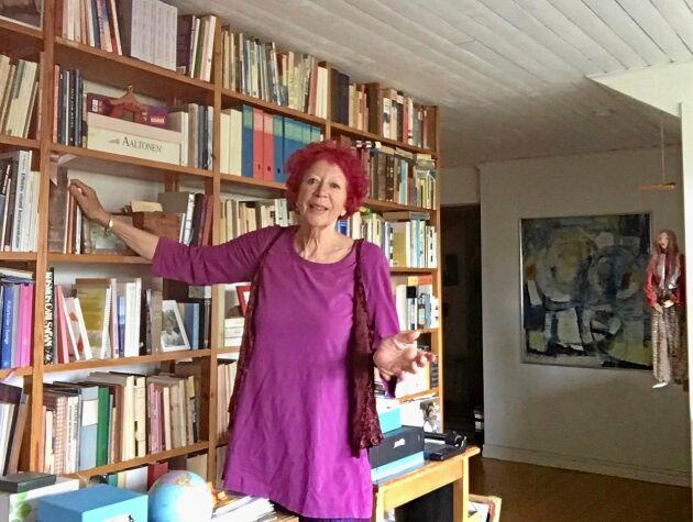 Ulla Keyling i sitt hem.