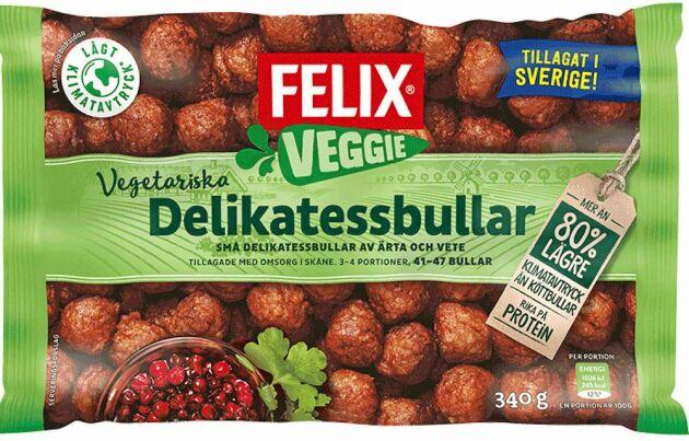 Felix vegobullar gjord av vete- och ärtprotein.