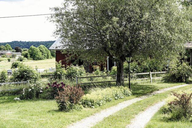 På getgården finns boningshus och ladugård och den hektar mark som används som bete.