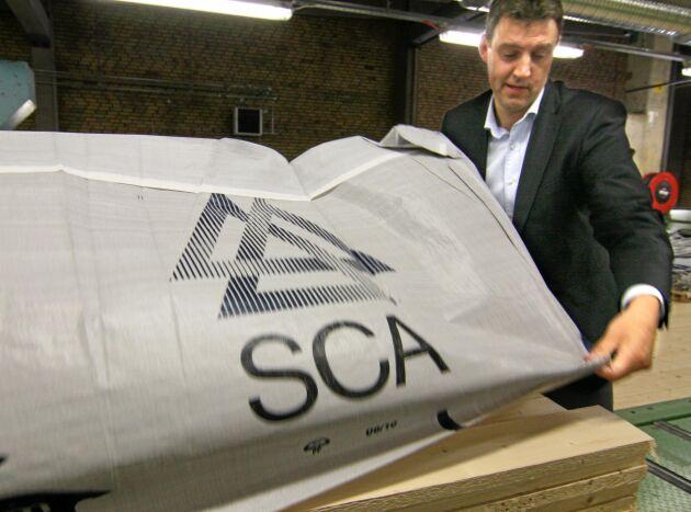 Facket Ulf Larsson, vice vd för SCA och chef för den planerade skogsdelen.