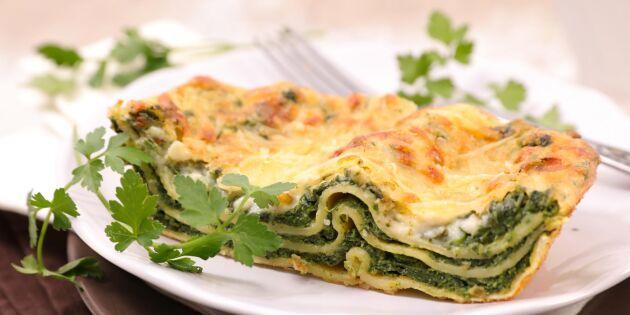 Spännande primör! Urgod grön lasagne på kirskål
