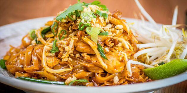 Vardagsfavoriten – Pad thai med risnudlar och kyckling