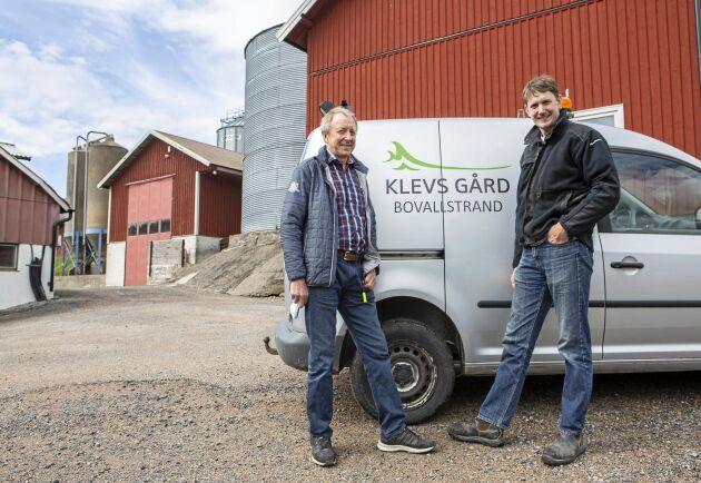 Håkan och Johan Christensson är två av delägarna till Klevs gård.