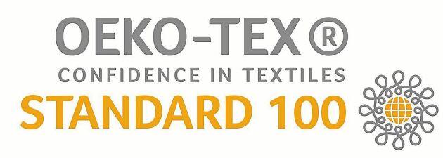 Oeko-tex 100 är en global märkning som garanterar att textilier är fria från skadliga kemikalier.