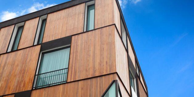 Kvarter helt i trä byggs i Stockholm