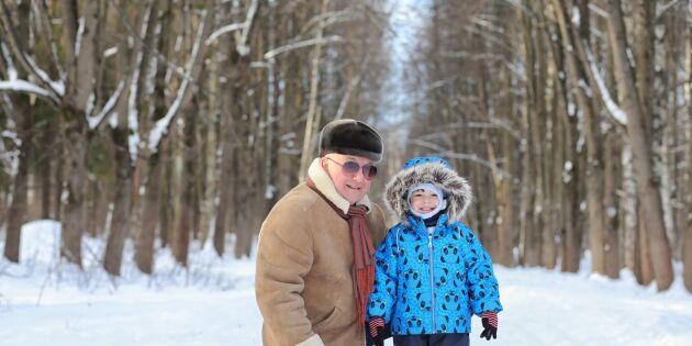 Barnbarn lockar äldre från yrkeslivet