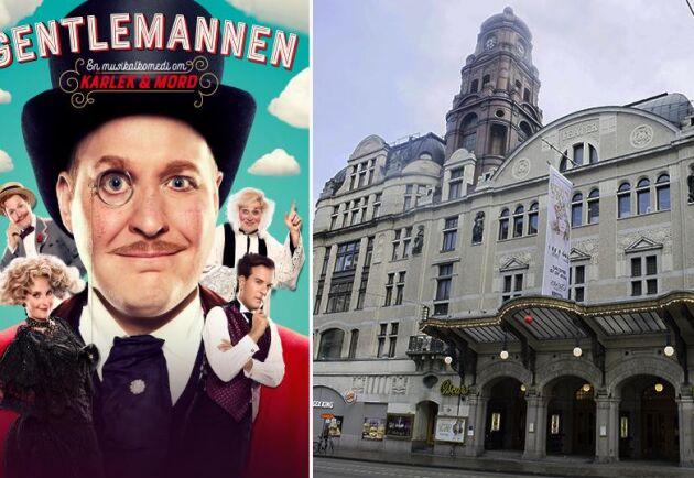 Henrik Dorsin briljerar i åtta olika roller i musikalkomedin Gentlemannen.