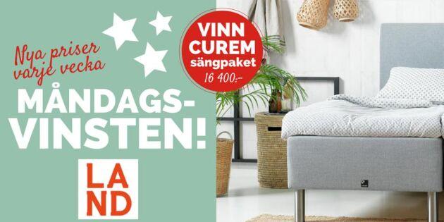 Måndagsvinsten: Tävla om ett exklusivt sängpaket från Curem
