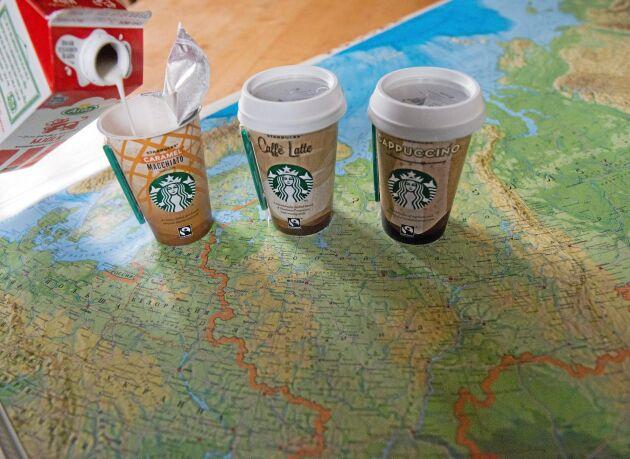 Export av mjölk till Ryssland är förbjudet. Men kaffe blandat med Arlamjölk omfattas inte av embargot.