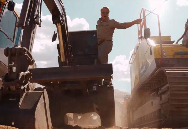 """Volvos reklamfilm """"Volvo Excavators – """"Pump It Up"""" feat. Dolph Lundgren"""""""